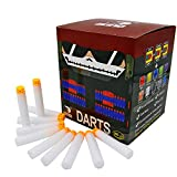 EKIND 200 Pcs 7.2cm TPR Waffles Soft Head Glow in the Dark Foam Darts Nerf N-strike Elite AccuStrike Series Blasters Toy Gun(White)