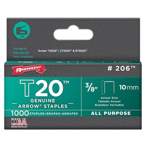 Arrow T20 Staples Box 1000 10mm - 3/8in 206