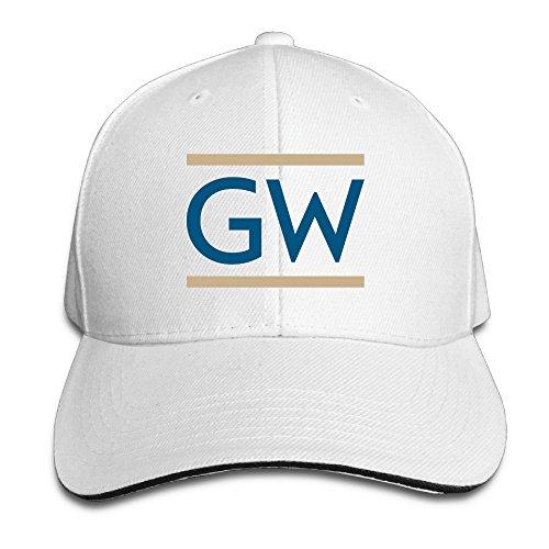 bro-custom-george-washington-university-gw-sandwich-snapback-chapeau-unisex-hat-white