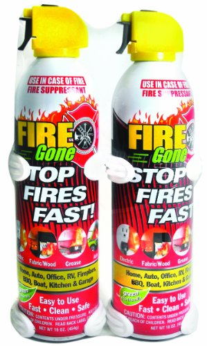 Fire Gone Supressant with Brackets, 2-Pack, 16-Ounce, used for sale  Delivered anywhere in Canada