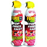 Fire Gone Supressant with Brackets, 2-Pack, 16-Ounce