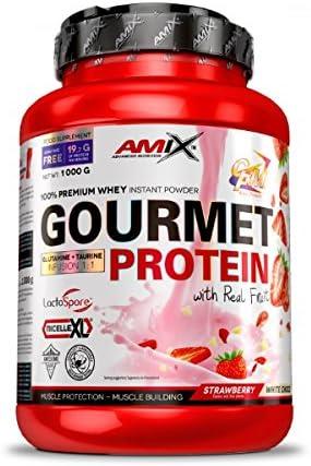 AMIX Gourmet Protein - 1 Kg Strawberry - White Choco: Amazon ...
