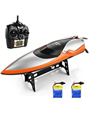 HELIFAR RC Boat, Remote Control Boat for Pools and Lakes 2.4GHz RC Speed Boat 20MPH 180 Degree Flipping RC Racing Boat for Adults & Kids with 2 Batteries