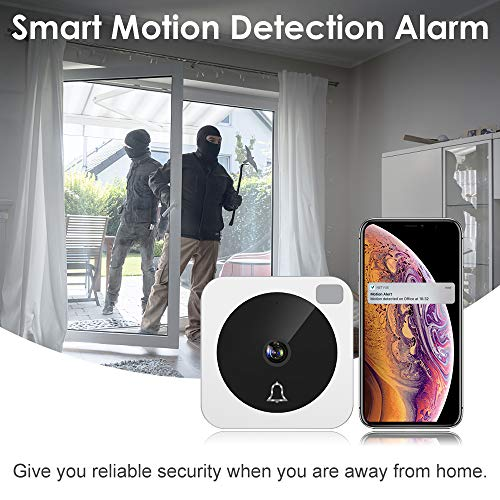 Video Doorbell, NETVUE Wireless Doorbell Camera with Two-Way Talk, IR Motion Detection, Night Vision, Compatible with Alexa Echo Show, Wifi Camera Doorbell with Cloud Storage [Wall Plug Included] (A) by NETVUE (Image #5)