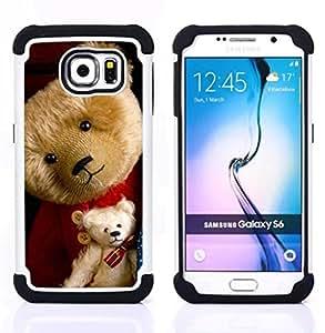 """Pulsar ( Osito de peluche de peluche de juguete Niño lindo"""" ) Samsung Galaxy S6 / SM-G920 SM-G920 híbrida Heavy Duty Impact pesado deber de protección a los choques caso Carcasa de parachoques"""
