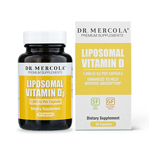 Dr. Mercola Liposomal Vitamin D 1000 IU Supplement - 30 Capsules- Essential for Heart Health and Joint Health* – Natural Licap Vitamin D3 Capsules