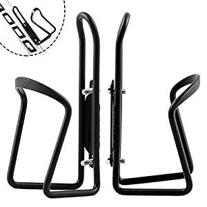 Water Bottle Cages, Bike Bicycle Alloy Aluminum Lightweight Water Bottle Holder Cages Brackets (2 Pack)