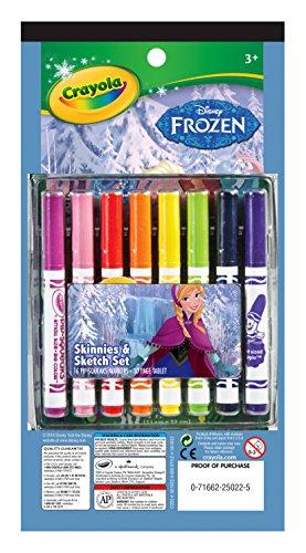Crayola Frozen 16ct PipSqueak Marker & Paper (Pipsqueaks Skinnies Markers)