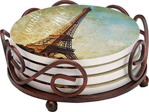 Thirstystone Stoneware Coaster Set, Gift Set, Golden Age of Paris