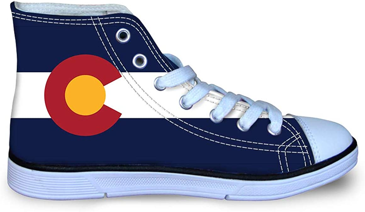 Canvas High Top Sneaker Casual Skate Shoe Boys Girls Palm Moon South Carolina Flag