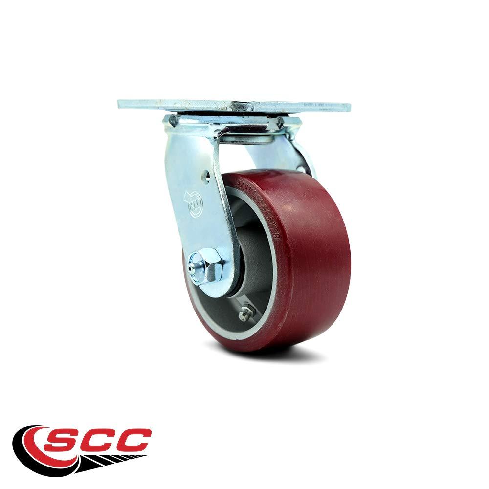 Service Caster - 4'' x 2'' Polyurethane on Aluminum Wheel Swivel Caster - 700lbs/Caster