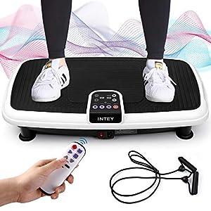 INTEY Plateforme Vibrante Oscillante pour Fitness, 6 en 1 Multifonctions | Silencieux | Antidérapant, 2 Bandes…