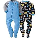 Gerber Little Boys' Baby and 2 Pack Blanket Sleepers, Elephant, 7