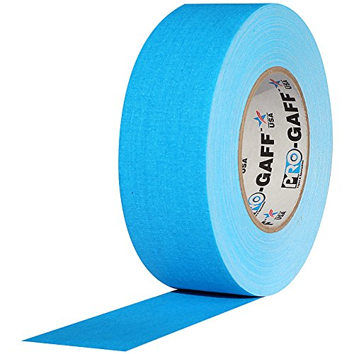 55 yds Length 2 Width Pack of 1 Grey 11 mils Thick ProTapes Pro Gaff Premium Matte Cloth Gaffers Tape With Rubber Adhesive