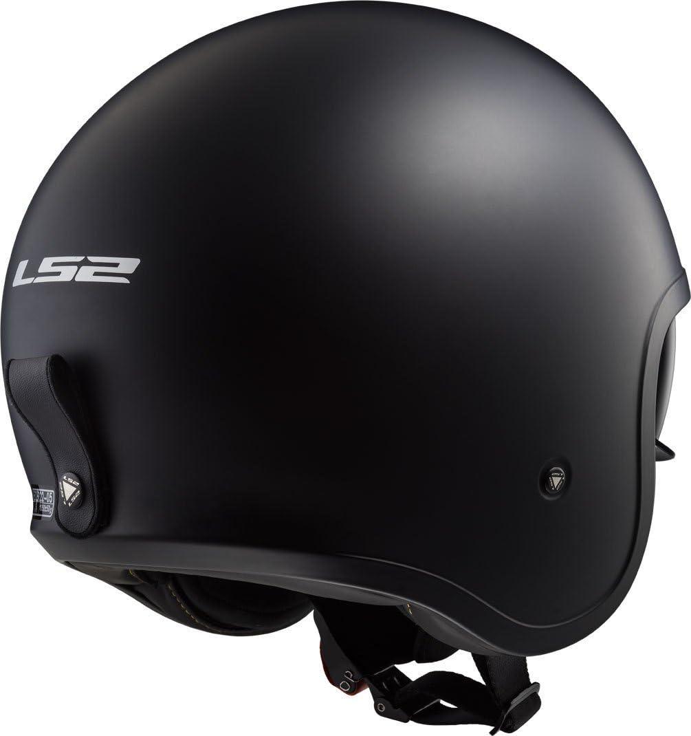 Schwarz LS2 Motorradhelm SPITFIRE Mat Gr/ö/ße XS
