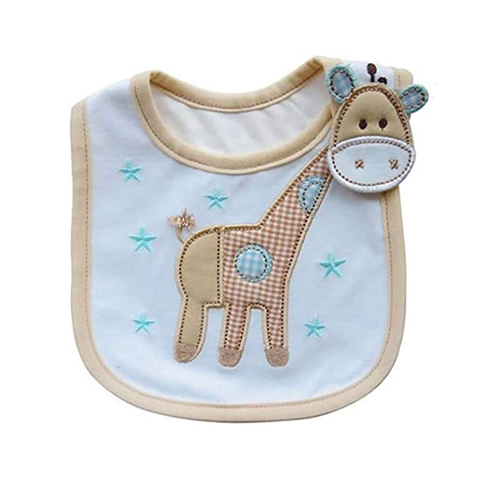 Newin Star Baberos para bebés de algodón Toalla Babeo precioso patrón de dibujos animados lindo del