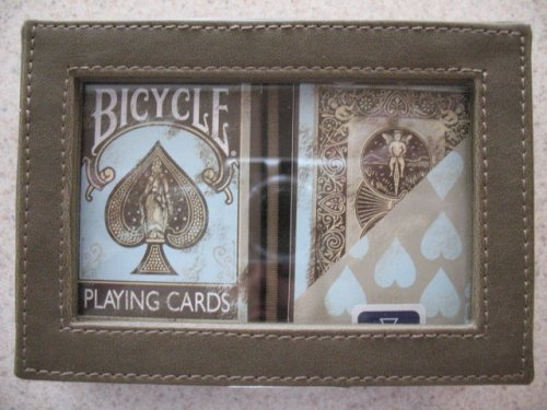 Bicycle Deluxe 2 Dirty Deck Playing Cards Set in Leather Case (Bicycle Clear Playing Cards)