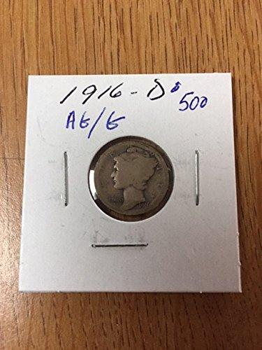 1916 D Mercury Dime AG/G (1916 D Mercury Dime)