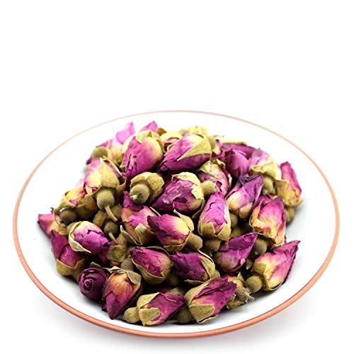 Dried Rose - GOARTEA 100g (3.5 Oz) Organic Red Rosebud Rose Buds Flower Floral Dried Herbal Health Chinese Tea