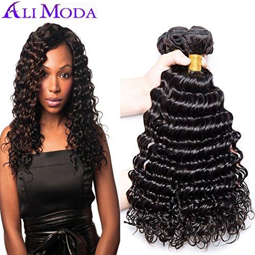 Ali Moda 9A Deep Wave Curly Malaysian 3 Bundles 100% Unproce