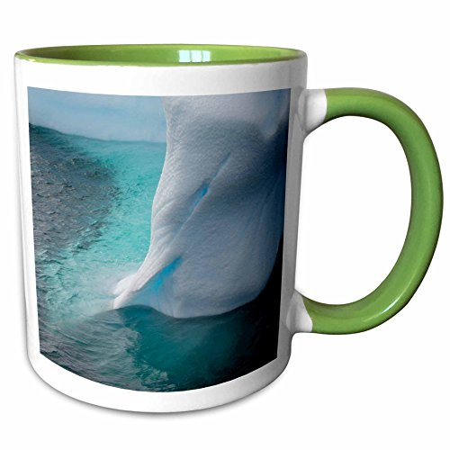 Argentine Island Light - 3dRose Danita Delimont - Icebergs - Antarctica. Argentine Islands. Unusually shaped iceberg. - 11oz Two-Tone Green Mug (mug_225190_7)