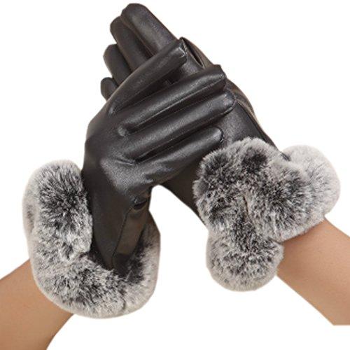 元の素晴らしい良い多くの既に(オンサイド)スマホ対応手袋 レザー手袋ファー付き 暖かいグローブ 裏起毛 防寒 スマホタッチ対応 婦人用 フィット感&防寒性抜群 軽量 女性 プレゼント セレブ 暖か手首