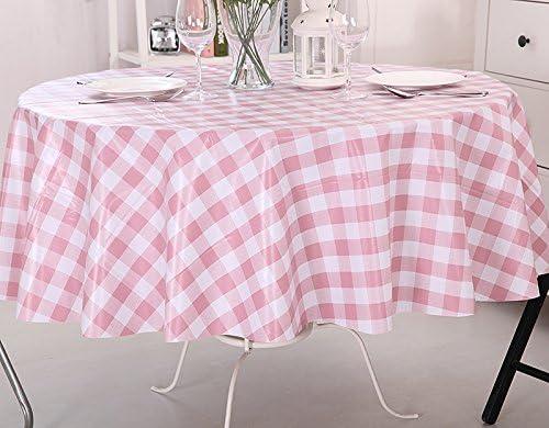 Vinylla Mantel para mesa (PVC, fácil limpieza), diseño de gingham ...