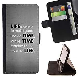 - Deep Message Value Of Life/ Personalizada del estilo del dise???¡¯???¡Ào de la PU Caso de encargo del cuero del tir???¡¯????n del s - Cao - For HTC One