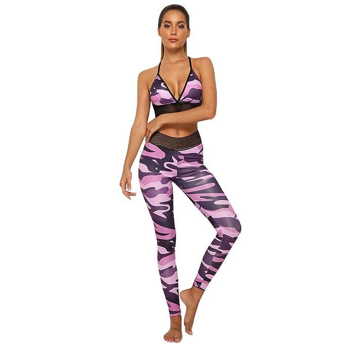 BOBOLover Juego De Estampado para Mujer Pantalones De Yoga ...