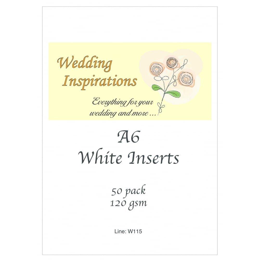 Craft UK card inserts - A6 size white colour x 50: Amazon.co.uk ...