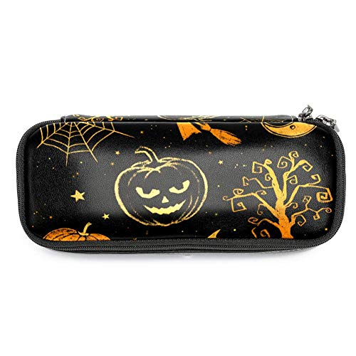 MAPOLO Halloween Pumpkin Spider Pencil Case Pencil Bag Makeup Pouch Students Stationery Pen Holder for School/Office