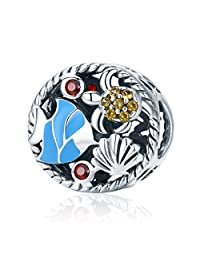The Kiss The Undersea World Fish Tortoise 925 Sterling Silver Bead Fits European Charm Bracelet