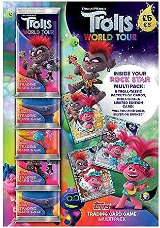 5 packs inc 1 Ltd Ed Topps Trolls World Tour Trading Cards Rock Star MultiPack
