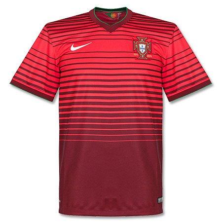 NIKE Portugal 2014 Stadium Men's Soccer Shirt, Red, M