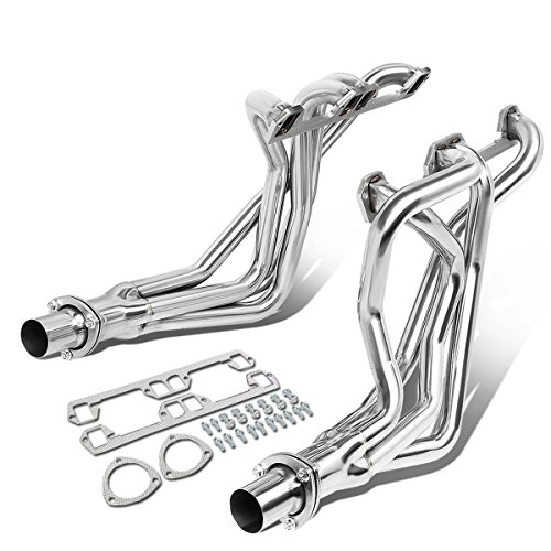 (For 72-91 Dodge D/W-Series Ramcharger Pair 4-1 Long Tube Exhaust Header Manifold)