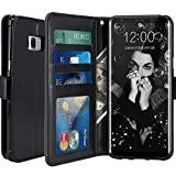 Galaxy S8 Plus Case, LK [Wrist Strap] Luxury PU Leather Wallet Flip Protective Case Cover with Card Slots and Stand for Samsung Galaxy S8 Plus (Black)
