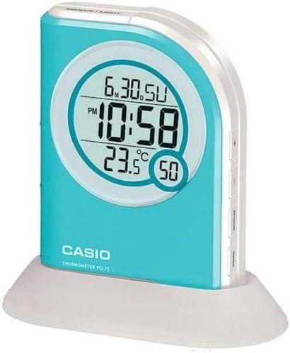 Casio Digital Alarm Clock Aqua Blue