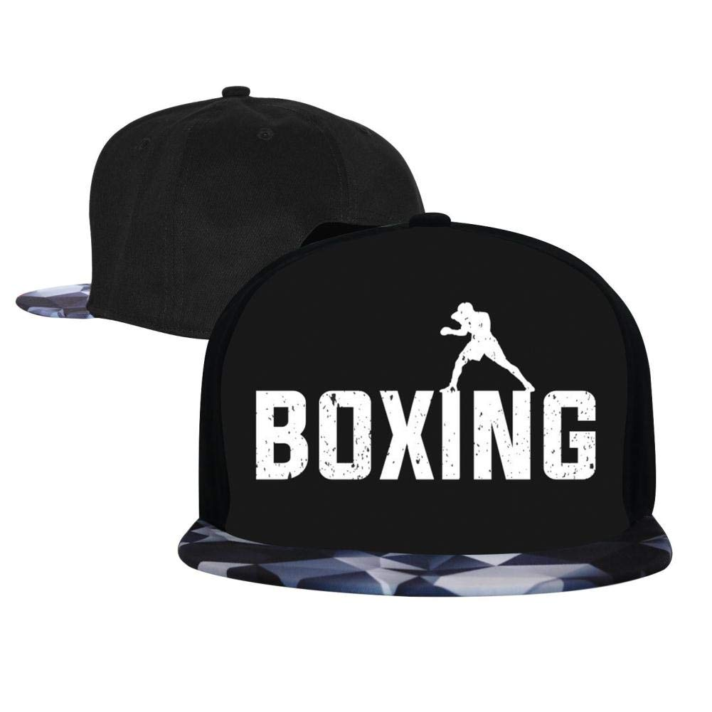 The Boxing Fighter Unisex Hip-Hop Cap Adjustable Top Plain Sport Baseball Hat
