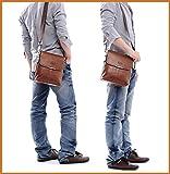 Man Brown Shoulder Bag Handbag Laptop Bags Composite Leather Casual Bag