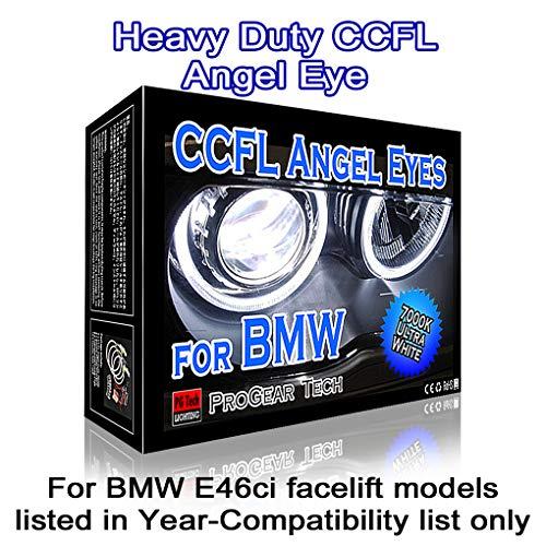 Heavy Duty 106 mm X 4 CCFL Angel Eyes Halo Rings DRL Marker E46ci Facelift (7000K White)