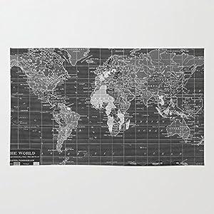 Amazon society6 black and white vintage world map rug 4 x 6 society6 black and white vintage world map rug 4 x 6 gumiabroncs Choice Image