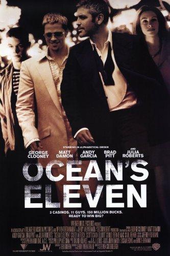 Ocean's Eleven Poster Movie D 11x17 George Clooney Brad Pitt