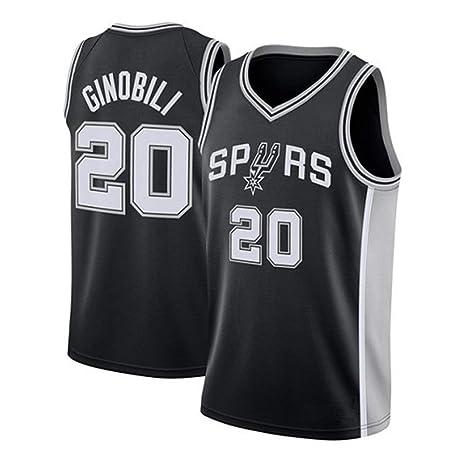 online store df2a0 00915 Hanbao Men's Women Jersey - NBA Spurs 20# Ginobili ...
