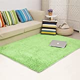 Ustide Fruit Green Area Rugs Fluffy Chenille Rugs Sitting Room&Living Room Carpets 4 x 6