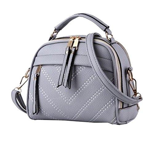 Bolsas Yy.f Damas Bolsos Carteras Sencilla Y Elegante Bolsa De Hombro Paquete Mensajero Cinco Colores Grey