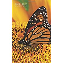 2019-2020 2 Year Pocket Planner: Monthly Calendar Organizer | Beautiful Monarch Butterfly