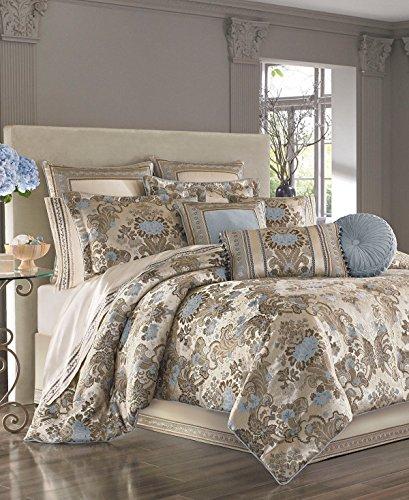 (J Queen New York Jordyn Olivia Taupe 4 Piece Queen Comforter Set)