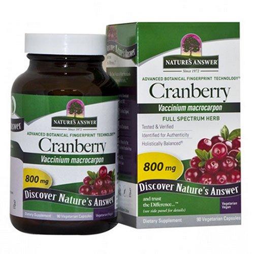 Natures Answer Cranberry Fruit 800 mg Vegetarian Capsule – 90 per pack — 2