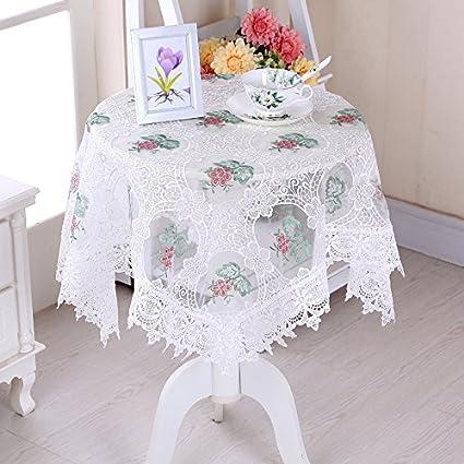HL-hilado de vidrio PYL Mantel bordado Mantel Mesilla Cubierta Multi Toalla Mantel circular C