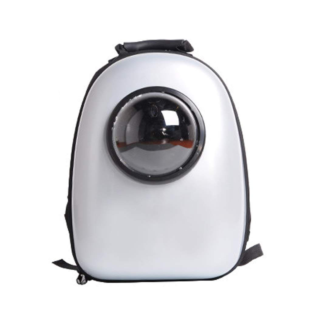 Silver B Pet Carrier Backpack,Space Capsule Bubble Transparent Backpack for Cats and Puppies, Designed for Travel,Outdoor Use (color   Silver B)